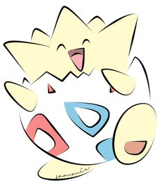 Togepi | Togepi Coloured by ensnarings