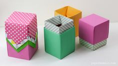 With these instructions you can learn how to make a useful tall origami box, which can be used as a lid as well.
