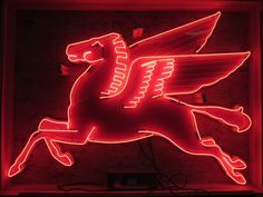 If I had to pick one single sign... this would be it: Vintage Mobil Gas Station Pegasus neon sign