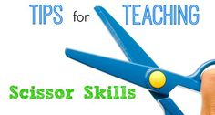 Tips for teaching scissor skills in your Preschool, Pre-K, or Kindergarten classroom. Tips to help your kids learn how to cut with scissors.