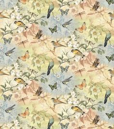 Susan Winget Fabric Birds Of A Feather Scenic
