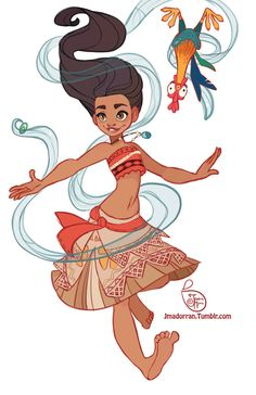 =>watercolors / inks / pencils / white paint I'm sooo happy to present you this picture. I'm totally fond of Moana's grandma,Tala. She's the most amazing character of the movie to me. I'm so hap...