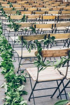 Greenery Wedding Ideas That Are Actually Gorgeous---wedding ceremony chair with greenery decorations, spring weddings, outdoor wedding ideas Wedding Ceremony Ideas, Ceremony Seating, Wedding Seating, Wedding Ceremonies, Space Wedding, Diy Wedding Decorations, Wedding Centerpieces, Wedding Favors, Nature Inspired Wedding