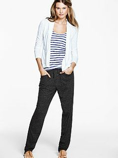 The Lounge Pant, Basic Tank & Relaxed Blazer