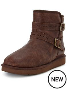 ugg-aiden-double-strap-leather-biker-boot  would love to have these,
