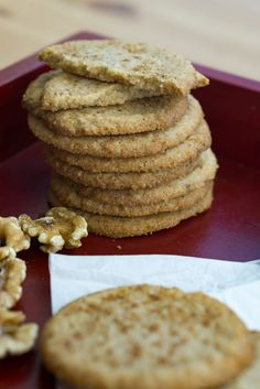 Walnut Cookies Our low carb walnut cookies are the perfect nutmeg spiced buttery ending to dinner during the holiday season!