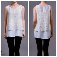 New collection  Vienna 2pc top (cream lace outer) IDR 215,000
