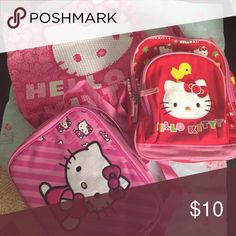 Bag,luchbag and mini backpack Hello kitty all 3 Used Hello Kitty Accessories Bags