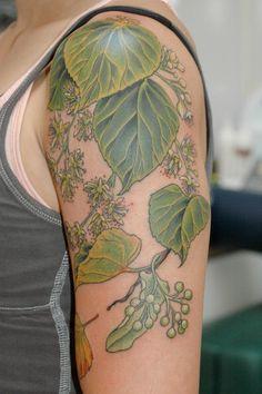 linden tree tattoo - Google Search