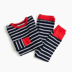 Shop J.Crew for the Kids' waffle-knit pajama set in stripes for Boys. Find the best selection of Boys Sleepwear & Loungewear available in-stores and online. Pajamas For Teens, Girls Pajamas, Pajamas Women, Satin Pyjama Set, Pajama Set, Cozy Pajamas, Pyjamas, Boys Sleepwear, Womens Pyjama Sets