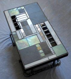 bespoke mosaic tile coffee table with metal legsvjlzlab | my