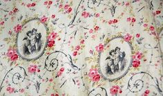 Fabric Close-Up, 1878-1880 Printed Cotton Sateen Seaside Dress .(Image via Bowes Museum)