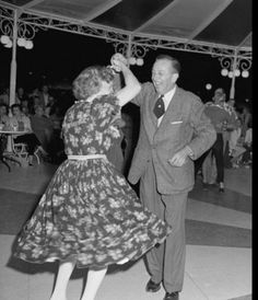 Walt and Lilly dance at the Carnation Plaza Bandstand in the 1950's.