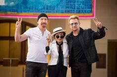 The Edge, Yoko Ono and Bono  Photo: Edu Bayer