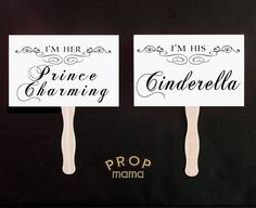 Prince Charming / Cinderella and Happily Ever After by PropMama, $14.00