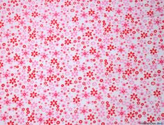 Polycotton Fabric - Pink Floral Meadow - Buy from WeaverDee.com