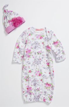 Baby Nay 'Pink Queen' Gown & Hat Set (Infant)   Nordstrom would be a cute take home outfit!