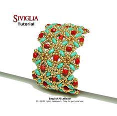 Tutorial Siviglia Bracelet - beading pattern