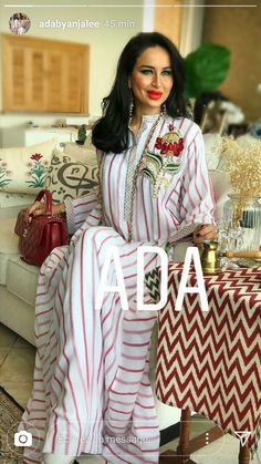 Flower could b inspired of Moroccan hand work as well button tap Kaftan Style, Caftan Dress, Mode Abaya, Mode Hijab, Abaya Fashion, Fashion Dresses, Indian Designer Outfits, Indian Outfits, Nice Dresses