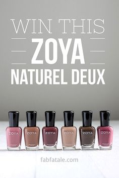 I just entered to win the newly released Zoya Naturel Deux (2) collection at http://www.fabfatale.com/2014/08/zoya-naturel-deux-swatches/ #z...