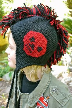 Caron International Yarns | Free Project | Mohawk Hat