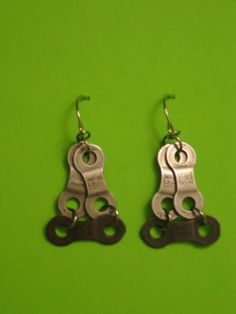 DIY Bicycle Chain Earrings