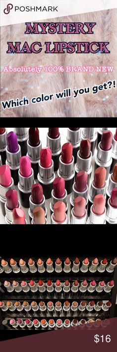 MYSTERY ❤️BRAND NEW❤️ MAC lipstick 💄💄💄 I have so many MAC cosmetics recyclables that have accumulated, that I have finally decided to REDEEM all of my free lipsticks, and sell them to all of you! If you have any questions. Feel free to ask! 💄💄💄 MAC Cosmetics Makeup Lipstick