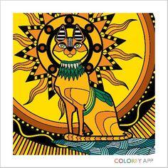 Egyptian cat art