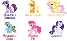 Image result for my little pony characters names