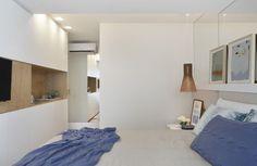 quarto de casal, branco, madeira, cobre