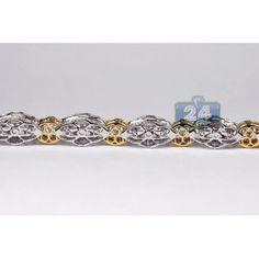 Mens Diamond Link Bracelet Two Tone Gold ct Bracelets For Men, Link Bracelets, Gents Bracelet, Two Tones, Diamond, Gold, Jewelry, Jewlery, Men's Wristbands