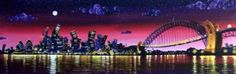 Rayford - Artists - Buckingham Fine Art Publishers Ltd Sydney Harbour Bridge, Bridges, Artsy Fartsy, Opera, Fine Art, Night, Artist, Travel, Viajes