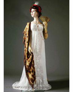 Ensemble, ca. 1795 (scarf), 1802-1803 (dress)  Napoleon & the Empire of Fashion.