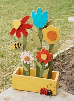 DIY Wood Flower Box by HomeStudiosDIY on Etsy, $50.00