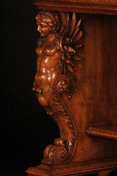 Henri-Auguste FOURDINOIS - Neo-Renaissance style table decorated with chimeras - Gueridons, Stands, Pedestals, sellettes Japanese Wall, Second Empire, Renaissance Fashion, Chimera, Hand Shapes, Objet D'art, Architectural Elements, Wood Carving, French Antiques