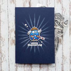 Basteltraum Challenge #59   Winter Weihnacht Sternenglanz, Create a Smile, Fröhliche Schreiertage, Weihnachtskarte, Kartenwerke, Spectrum Noir Marker