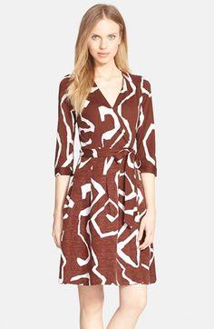 Diane+von+Furstenberg+'Jewel'+Print+Wrap+Dress+available+at+#Nordstrom