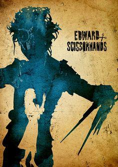 Tim Burton Edward Scissorhands Minimalist Poster by moonposter