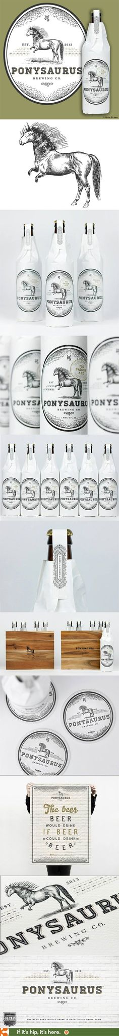 Here you go João Fernandes Beautiful branding and package design for the new Ponysaurus Brewing Co. PD