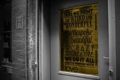 #design #ourdoor #copy #vinyl #window Weird And Wonderful, Love Is All, Window Ideas, Vinyls, Advent, Windows, Prints, Beautiful, Design