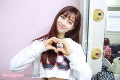 K-Pop, Berry Good, Daye, Bangs, Red Hair