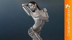 Cyborg-Girl- Sci-fi - Speed art (#Photoshop) | CreativeStation