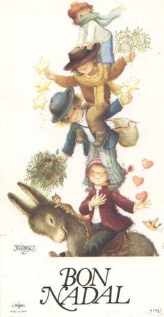 La Mágica Navidad de Ferrándiz Beauty Illustration, Illustration Artists, Cute Illustration, Vintage Christmas Cards, Christmas Photos, 1st Christmas, Old Postcards, Photo Postcards, Christmas Illustration