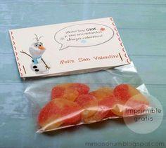 Olaf: Imprimible gratis para San Valentín - Free Valentine's printable
