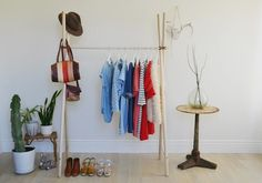 DIY Clothing Rack | DIY Room Decor Ideas for Crafters (Who Are Also Renters)