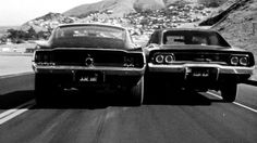 Bullitt chase scene - 1968 Ford Mustang GT and 1968 Dodge Charger R/T.