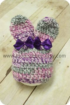 Newborn crochet Bunny Hat :)