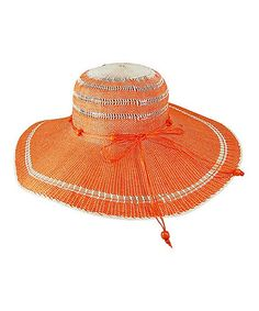 Another great find on #zulily! Orange Toyo Sunhat #zulilyfinds