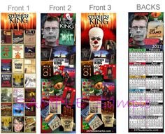 3 Lot -CALENDAR 2017 STEPHEN KING BOOKMARKS It Carrie Art Card Book Mark Steven - http://books.goshoppins.com/calendars/3-lot-calendar-2017-stephen-king-bookmarks-it-carrie-art-card-book-mark-steven/