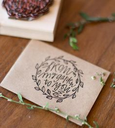 From My Garden Stamp by Alison Kate Design on Scoutmob Shoppe